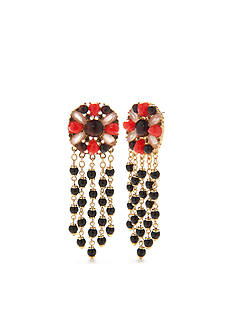 kate spade new york Gold-Tone Burst Into Bloom Cascade Chandelier Earrings
