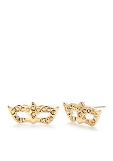 kate spade new york Gold-Tone Dress The Part Mask Stud Earrings
