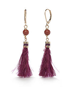 kate spade new york Gold-Tone Swing Time Tassel Linear Earrings