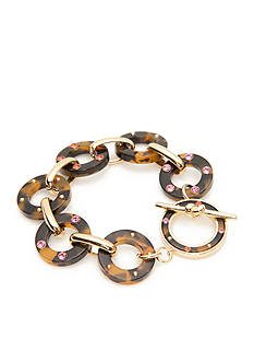 kate spade new york Gold-Tone Out of Shell Link Bracelet
