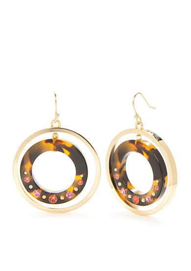 kate spade new york® Gold-Tone Out of Her Shell Drop Earrings