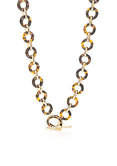 kate spade new york Gold-Tone Out of Her Shell Chain Necklace