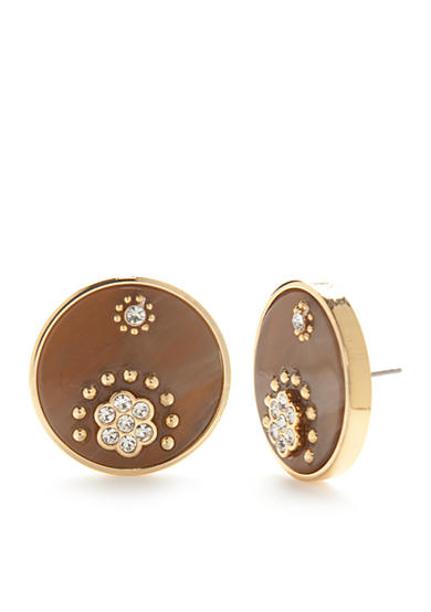 kate spade new york® Gold-Tone Out of Her Shell Statement Button Earrings