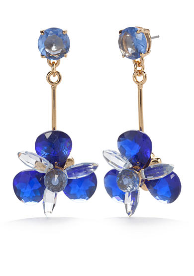 kate spade new york® Blooming Brilliant Gold-Tone Drop Earrings