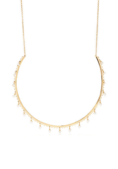 kate spade new york® Gold-Tone Chantilly Charm Collar Necklace