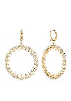 kate spade new york Gold-Tone Chantilly Charm Drop Earrings