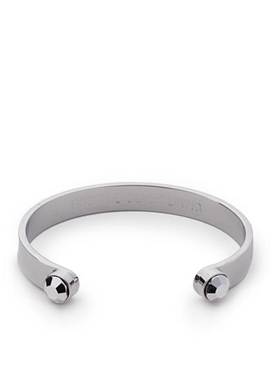 kate spade new york® Silver-Tone Forever Gems Open Cuff Bracelet