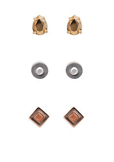 kate spade new york Forever Gems Tri-Tone Stud Earring Set