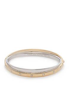 kate spade new york Two-Tone Full Circle Double Bangle Bracelet