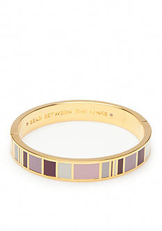 kate spade new york Gold-Tone Read Between the Lines Hinged Bangle