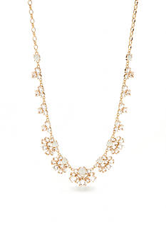 kate spade new york Gold-Tone Cubic Zirconia and Pearl Victorian Collar Necklace