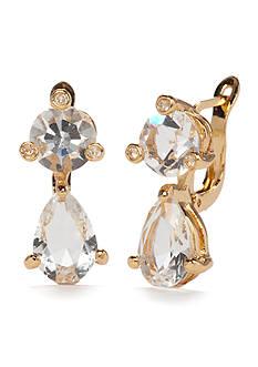 kate spade new york Gold-Tone Double Drop Earrings