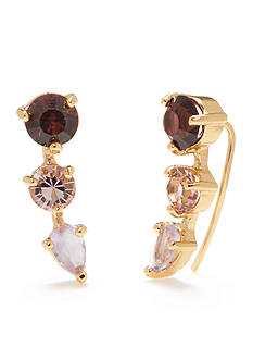 kate spade new york Gold-Tone Shine On Tri-Colored Drop Earrings