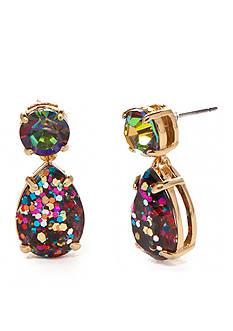 kate spade new york Gold-Tone Shine On Glitter Double Drop Earrings