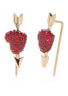 kate spade new york Gold-Tone Be Mine Heart Ear Pins