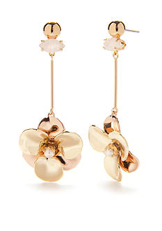 kate spade new york Gold-Tone Pick a Posy Linear Earrings