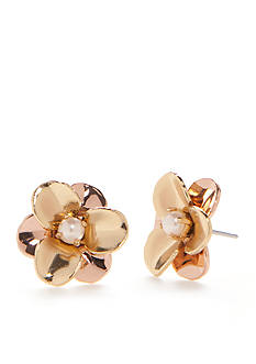 kate spade new york® Gold-Tone Pick A Posy Stud Earrings