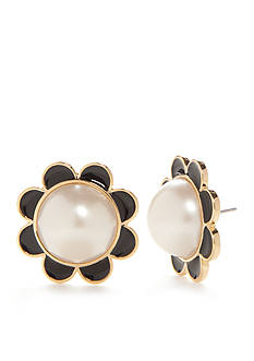kate spade new york® Gold-Tone Taking Shapes Flower Stud Earrings