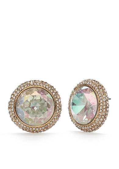kate spade new york® 14K Gold-Plated Absolute Sparkle Round Studs