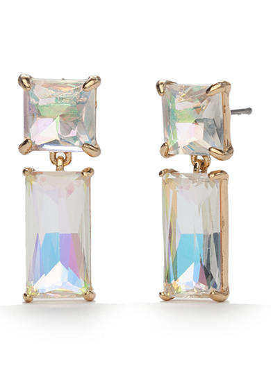 kate spade new york® 14K Gold Plated Shine On Baguette Drop Earrings
