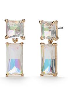kate spade new york 14K Gold Plated Shine On Baguette Drop Earrings