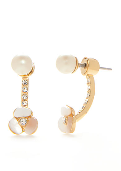 kate spade new york® 14K Gold-Plated Disco Pansy Ear Jacket