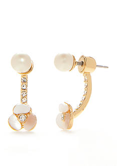kate spade new york 14K Gold-Plated Disco Pansy Ear Jacket