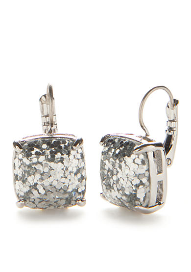 kate spade new york® Silver-Tone Small Square Drop Earrings