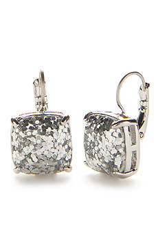kate spade new york Silver-Tone Small Square Drop Earrings
