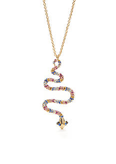 kate spade new york Gold-Tone Spice Things Up Snake Pendant Necklace