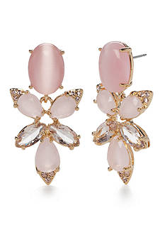 kate spade new york Gold-Tone Blushing Blooms Drop Earrings
