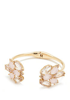 kate spade new york Gold-Tone Blushing Blooms Open Hinged Cuff Bracelet