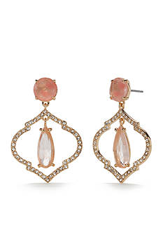 kate spade new york Gold-Tone Lantern Gems Drop Earrings