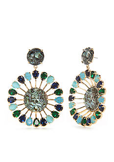 kate spade new york® Peacock Way Statement Earrings