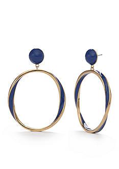 kate spade new york Gold-Tone Do the Twist Drop Earrings