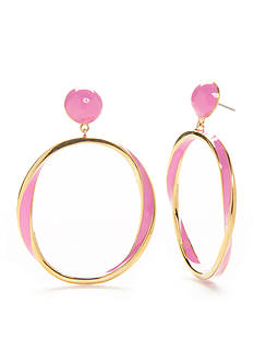 kate spade new york® Gold-Tone Do the Twist Drop Earrings