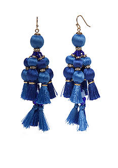kate spade new york Pretty Poms Tassel Earrings
