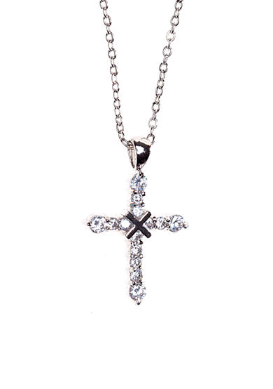 New Directions® CZ Pave Cross Pendant Necklace
