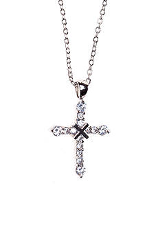 New Directions® Cubic Zirconia Pave Cross Pendant Necklace