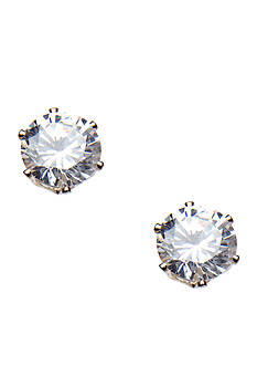 New Directions 10K Cubic Zirconia Stud Earring