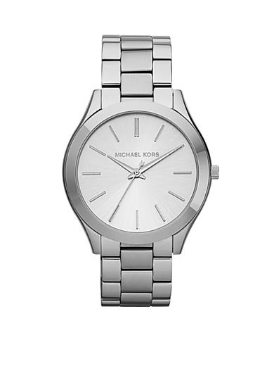 Michael Kors Silver Tone Stainless Steel Slim Runway Watch