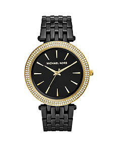 Michael Kors Black IP Darci Watch