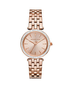 Michael Kors Rose Gold-Tone Mini Darci Watch