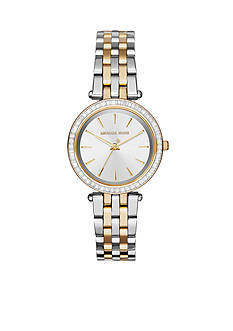 Michael Kors Women's Two Tone Stainless Steel Mini Darci Watch
