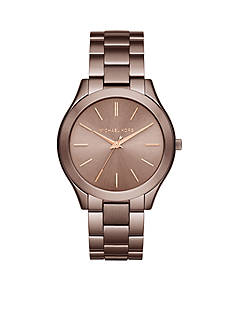 Michael Kors Women's Rose Gold-Tone Slim Runway Watch