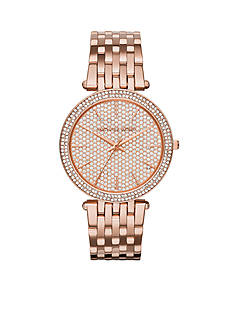 Michael Kors Women's Pave Rose Gold-Tone Darci Watch