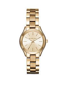 Michael Kors Women's Gold-Tone Mini Slim Runway Watch