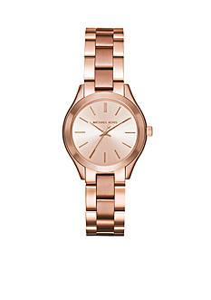 Michael Kors Women's Rose Gold-Tone Mini Slim Runway Watch