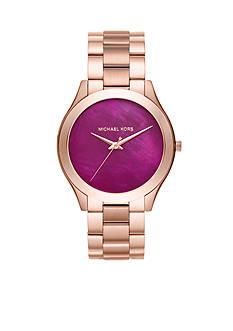 Michael Kors Women's Slim Runway Rose Gold-Tone Three-Hand Watch