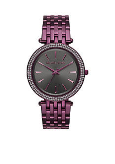 Michael Kors Women's Darci Plum IP Three-Hand Watch